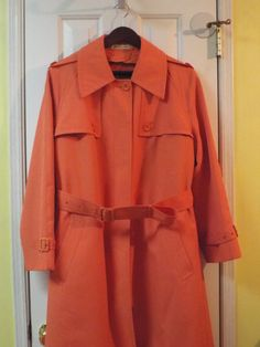 Vintage Orange Trench Coat Women's Size 16 by SweetPeaVintageTwo