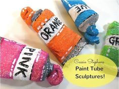 How to make a Paint Tube ornament from a Toilet Paper Tube! - YouTube