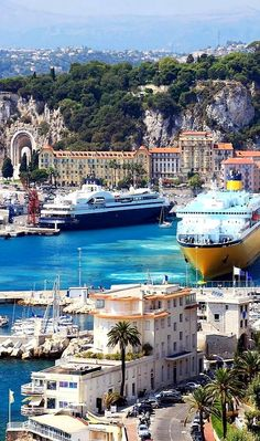 The harbor of Nice, France