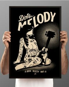 Dirty Melody — McBess wood print.