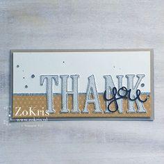 Stampin' Up! - Large Letters Framelits Dies, Hello You Thinlits Dies - ZoKris
