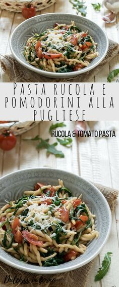 Pasta Ricette Gourmet 61 Ideas For 2019 Baked Pasta Recipes, Pasta Dinner Recipes, Pasta Dinners, Baked Recipes Vegetarian, Beef Recipes, Healthy Recipes, Healthy Food, Pasta Fagioli Recipe, Tomato Pasta Recipe