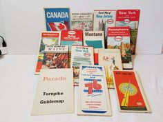 14 Vintage Travel Maps Gas Station AAA ESSO Humble American Motor Oil Standard