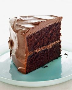 "This devilishly delicious all-occasion cake recipe was adapted from ""Martha Stewart's Baking Handbook,"" and the frosting recipe is courtesy of Matt Lewis of Baked."