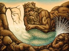 Absents of the mermaid by Octavio Ocampo #surrealism #art