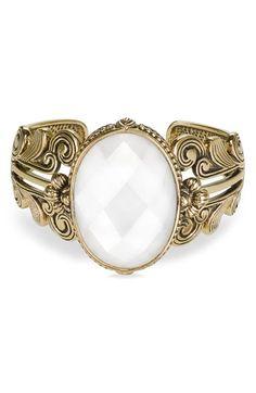 damn these cuffs that should be rings! $138.00 - Barse Semiprecious Stone & Bronze Cuff