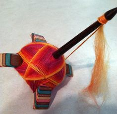 lovely rp: turkish spindle (and pretty fiber) Spinning Wool, Hand Spinning, Spinning Wheels, Drop Spindle, Yarn Inspiration, Hand Dyed Yarn, Knitting Patterns Free, Renewable Energy, Solar Energy