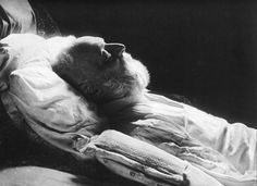 Victor Hugo on his deathbed. French poet, novelist, and dramatist, he died on May 22, 1885, aged 83.