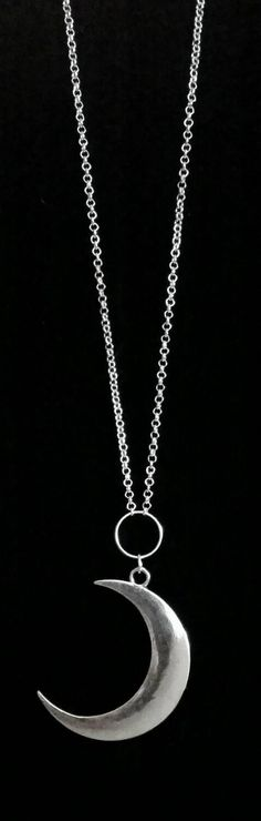"""36"""" gothic crescent moon necklace"""
