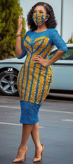 serwaa amihere in African print dress, african fashion Face mask diy - Women's fashion interests African Fashion Ankara, Latest African Fashion Dresses, African Inspired Fashion, African Print Fashion, African Style, Africa Fashion, African Fashion Designers, Short African Dresses, African Print Dresses