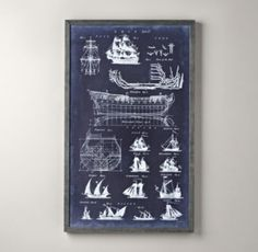 restoration hardware - shipblue print