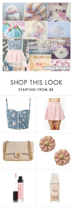 """""""Reverse"""" by jazzy-jessi ❤ liked on Polyvore featuring Topshop, Honey Punch, Chanel, ShoeDazzle and Maybelline"""