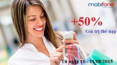 Hãy mang đến cho mình một tài khoản thật dồi dào trong đợt khuyến mãi của Mobifone ngày 10/08/2015 – 11/08/2015 bạn nhé! + http://dichvudidong.vn/dang-ky-goi-dc30-viettel-cho-ipad-voi-30000.html
