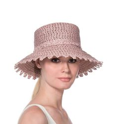 Ibiza - A bucket hat of Squishee® with self picot edge brim. Elasticised  inner 5754509f0ac0