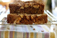 Apple Walnut Flaxseed Bread (I'll be making these as muffins for an easy weekday breakfast)