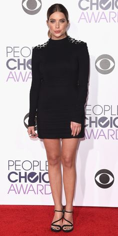 Ashley Benson in Phillip Plein, Nicholas Kirkwood shoes, and Established and Jennifer Meyer jewelry.