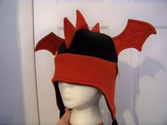 Fleece Dragon Hat by captiveaura.deviantart.com on @deviantART