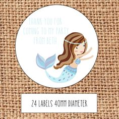 Personalised mermaid party bag stickers thank you sweet cone in Home, Furniture & DIY, Celebrations & Occasions, Party Supplies | eBay!