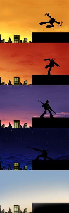 Stages of twilight by Myrling.deviantart.com on @deviantART