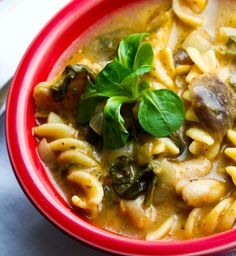 Veggie Pasta Stew - would like to try this without the mushrooms