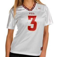 Nike Florida State Seminoles (FSU) #3 Women's Replica Football Jersey - White