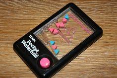 Vintage RARE Water Pyramid POCKET WATERFULS Tomy Handheld Game PUMP ACTION Retro