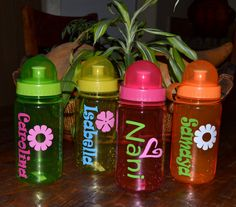 Custom water bottle with pop up top and by belleoftheballdesign, $9.00
