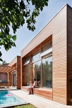 The extension's exterior makes a bold statement, but doesn't give much away about the interior at first glance.
