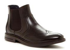 JOSEPH ABBOUD Liam Wingtip Boot Men's, CHOCOLATE, assort sizes,MSRP $175.00 #JOSEPHABBOUD #AnkleBoots