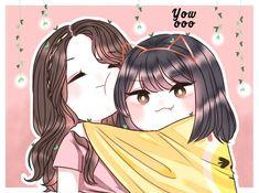 Yuri, Friend Anime, Korean Art, Beautiful Anime Girl, Kpop Fanart, Meme Faces, Anime Art Girl, Cartoon Images, Aesthetic Anime