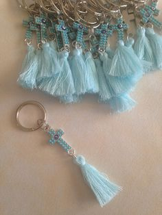 100 pcs Martyrika Keychains -Witness Pins-Baptism Favors-Baby shower favors- First communion favor Christening Favors, Baptism Favors, Baby Christening, Bridal Shower Favors, Tassel Keychain, Diy Keychain, Bead Crafts, Jewelry Crafts, Greek Gifts