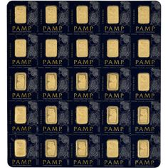 With the US dollar constantly losing value, invest in gold and silver bars that are sound, safe, and effective investments that are timeless and never lose value. 25x1 gram Gold Bar - PAMP Suisse - Fortuna - 999.9 Fine in Sealed Assay