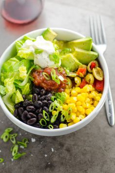 5 Minute Black Bean Taco Bowls from the Pantry + Freezer | Umami Girl
