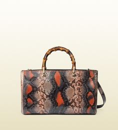 Gucci - bamboo shopper medium python tote 323660EU60G6560