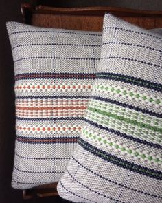 Glenbach weaving hand woven cushions and other products made in west Wales using locally-sourced materials