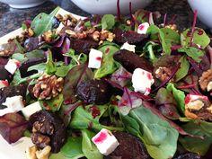 Beetroot, Feta and Walnut Salad Perfect to pop in a Picnic or a salad for a BBQ Walnut Salad, Picnic Ideas, Beetroot, Feta, Salad Recipes, Bbq, Spain, Barbecue, Barrel Smoker