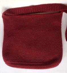 72cf55812b58 THE SAK Red Woven Crochet Purse Shoulder Bag Handbag Tote Zipper Knit   thesak  TotesShoppers