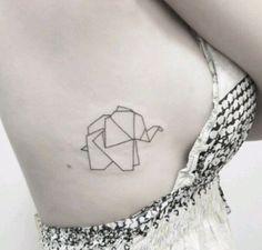 Imagem de tattoo, elephant, and geometric