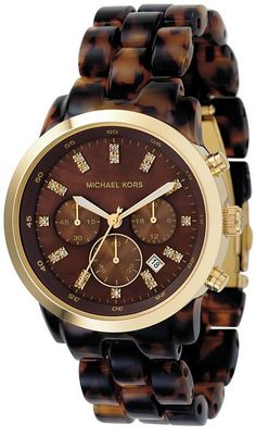 Michael Kors Chronograph Tortoise Acrylic Ladies Watch $161.95