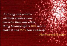 Precious Family: A strong & positive attitude creates more miracles .....