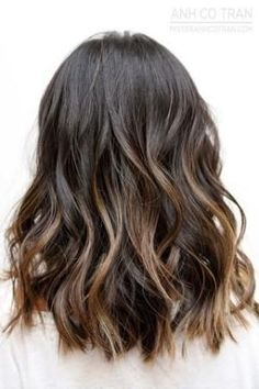 Brown Brunette Hair Inspiration Subtle Ombre Sombre Highlights Balayage