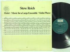 """Steve Reich Octet """"Music For A Large Ensemble"""" Experimental LP #Vinyl Record"""