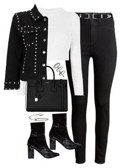 """""""Untitled #1795"""" by breannaflorence on Polyvore featuring H&M, Nasty Gal, Yves Saint Laurent, Jules Smith and Miss Selfridge"""