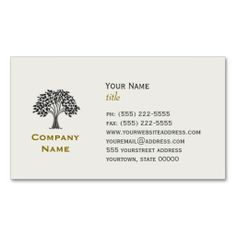 Wise Old Tree Business Card. Make your own business card with this great design. All you need is to add your info to this template. Click the image to try it out!