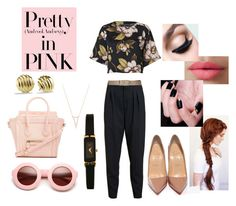"""Pretty in pink and black"" by yourownart ❤ liked on Polyvore featuring By Malene Birger, Chloé, Maison Boinet, Gemma Crus, American Apparel, David Yurman, DailyLook, LORAC, Christian Louboutin and women's clothing"