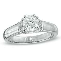 1-1/4 CT. T.W. Certified Diamond Engagement Ring in 14K White Gold (I-J/I2)