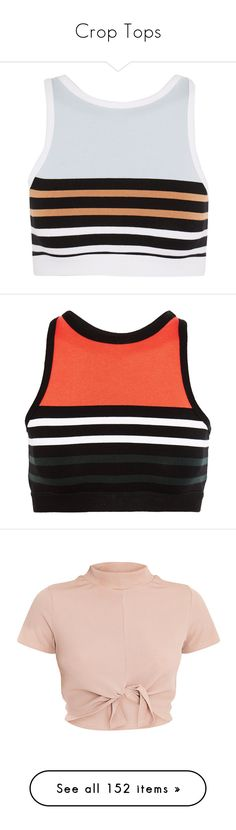 """""""Crop Tops"""" by courageousmind ❤ liked on Polyvore featuring activewear, sports bras, light blue, t by alexander wang sports bra, t by alexander wang, striped sports bra, bright orange, red jersey, orange sports bra and striped jersey"""
