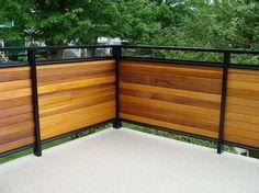 Dek Rail horiztonal cedar full and semi privacy deck railing panels