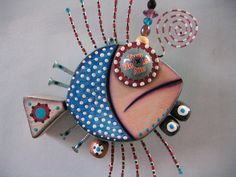 Twisted Fish 18, Original Found Object Sculpture by Fig Jam Studio. $63.00, via Etsy.