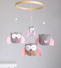 adorable handmade owl mobile